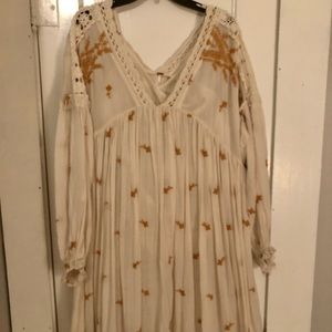 Women's Free People embroidered dress